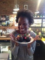 My secret Santa gift at work was cupcakes